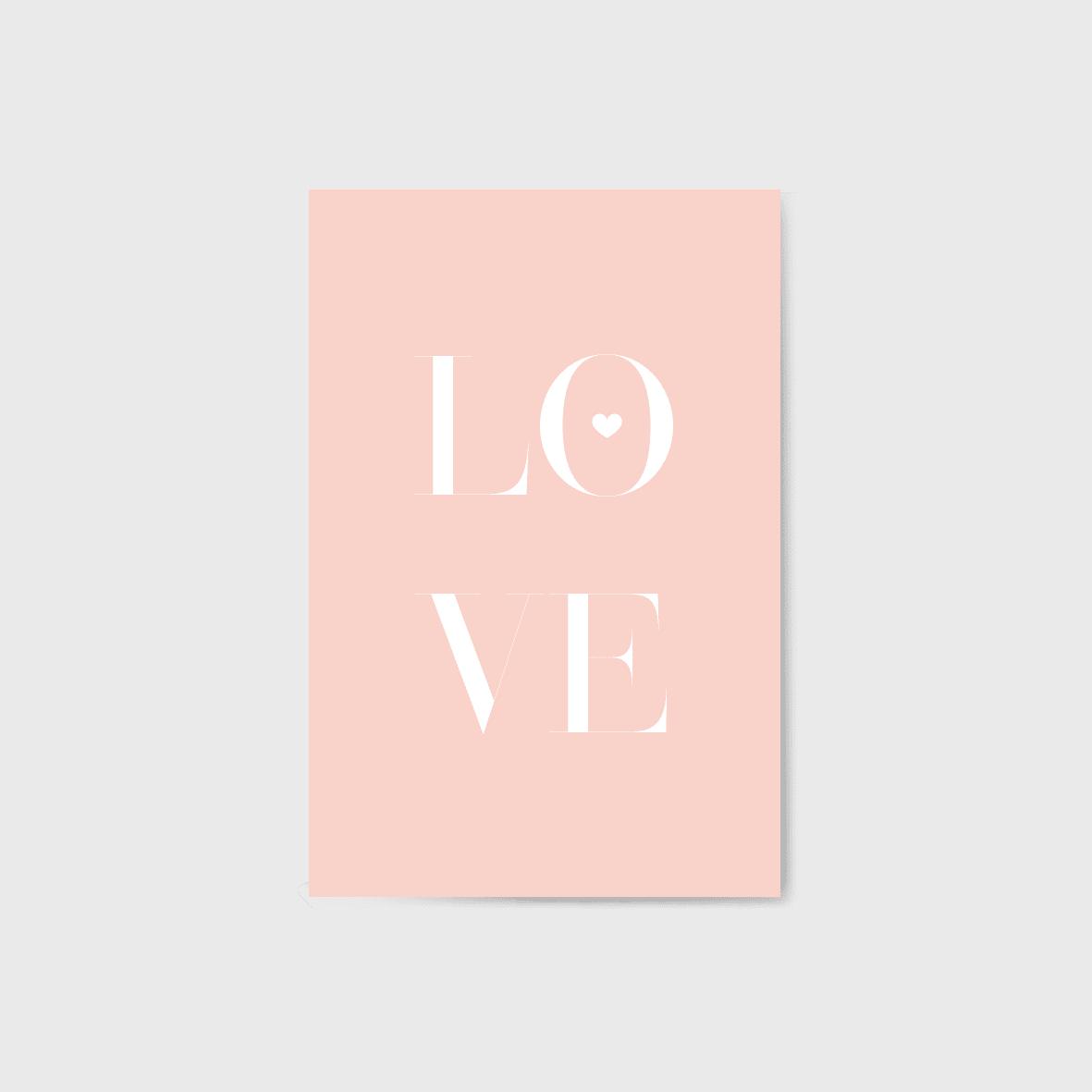 LOVE képeslap