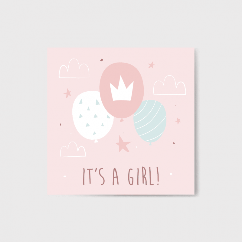 It's a girl kártya