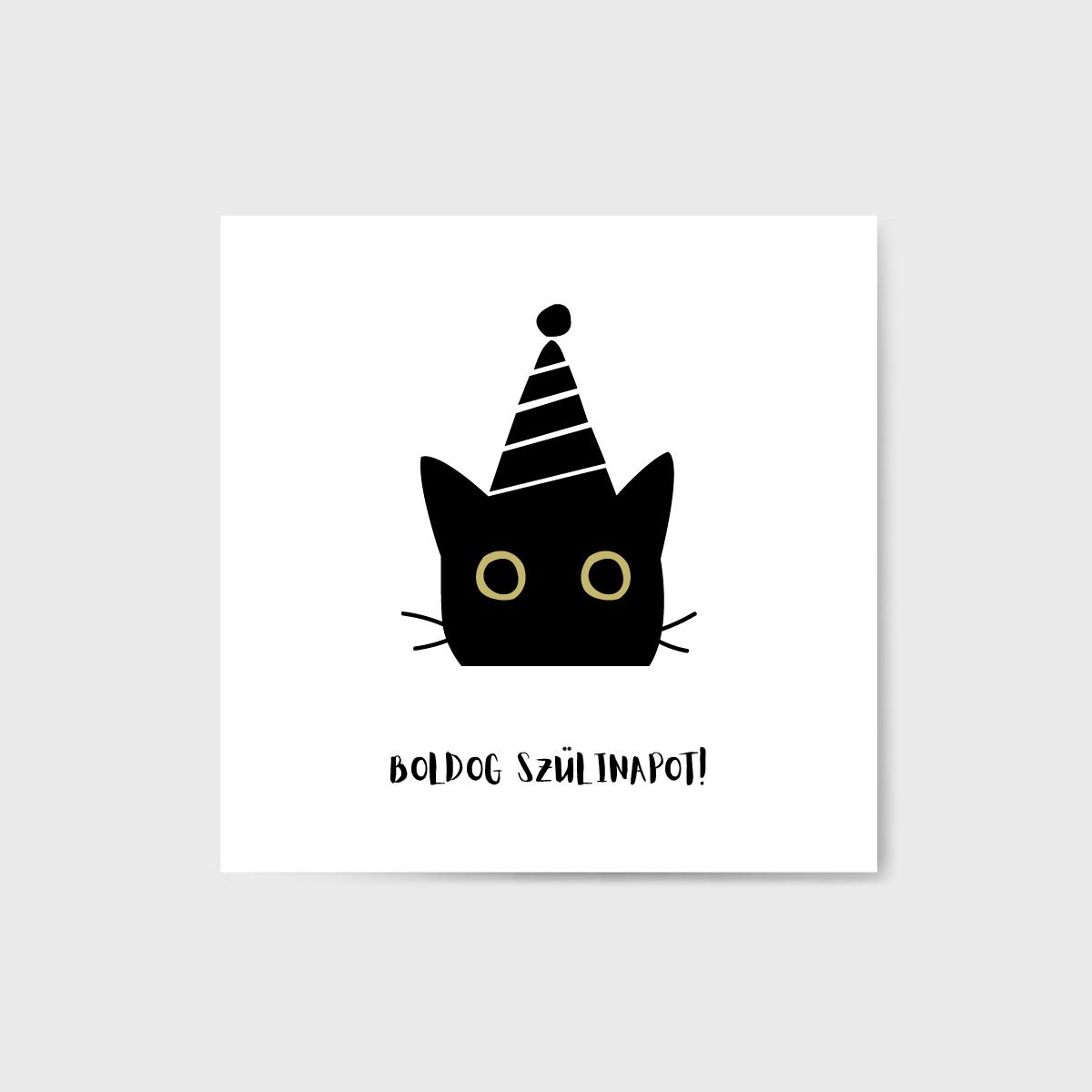 Cicás szülinapi kártya