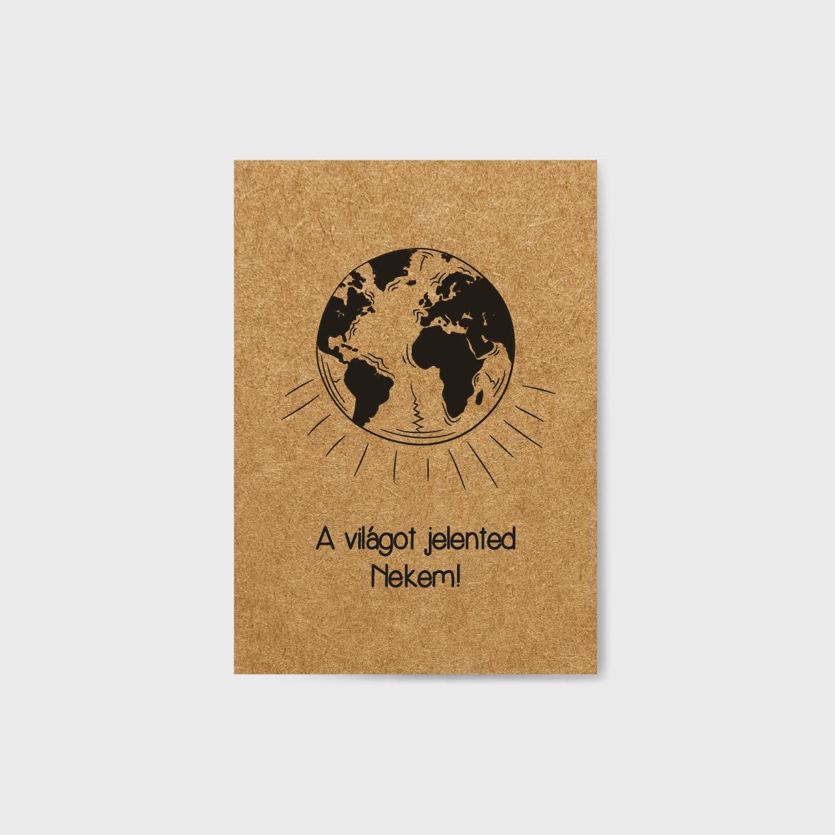 Világot jelented képeslap