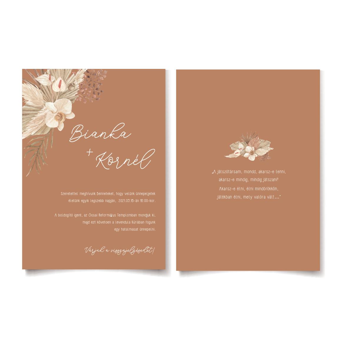 Driedflower esküvői meghívó