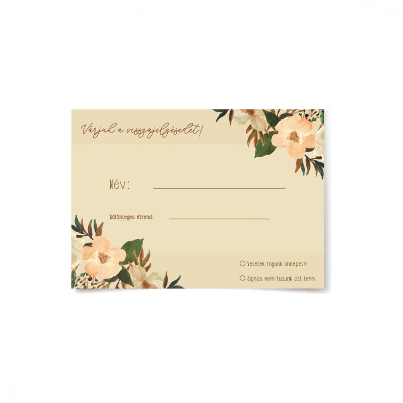 Erdei virág visszajelző kártya