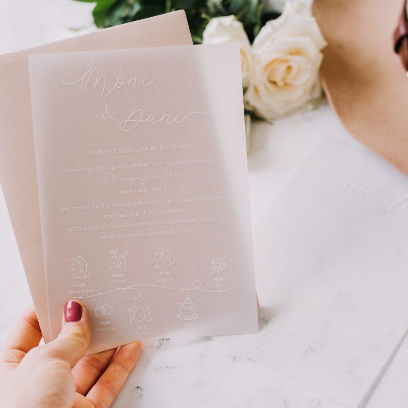 Pausz esküvői meghívó